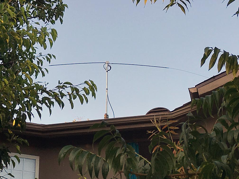 Horizontal dipole antenna